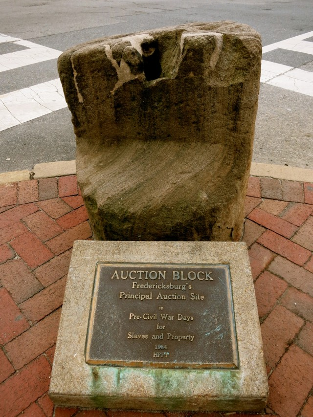 Slave Auction Block, Fredericksburg VA