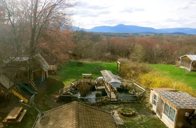Smythe House Backyard View of Catskills