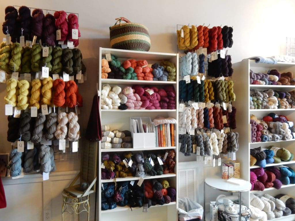 Interior The Perfect Blend Yarn and Tea Shop Saugerties NY