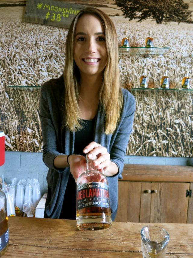 Whiskey with Chestnut Finish, Hewn Spirits
