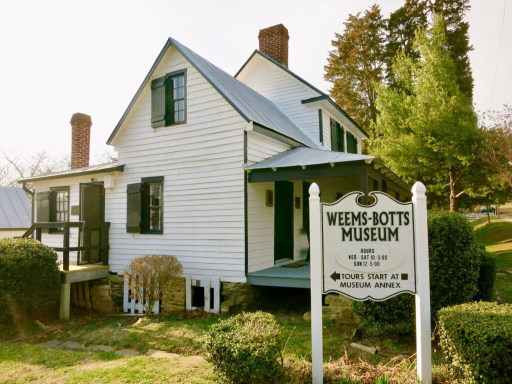 Weems-Botts Museum Dumfries VA