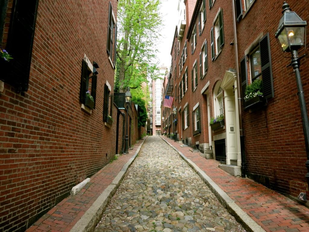 Acorn St on a Hidden Boston Getaway