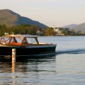 Boat with Sagamore on Lake George