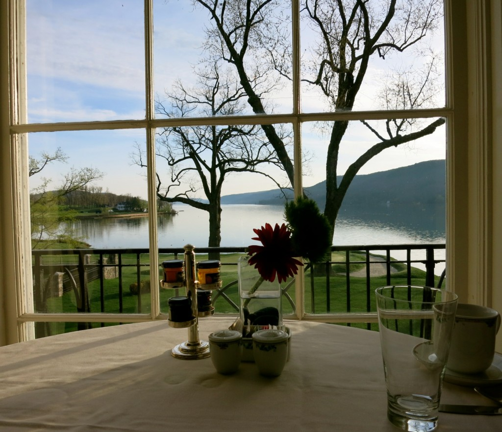 Breakfast Views at Otesaga Resort, Cooperstown NY