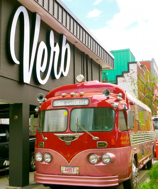 Exterior of the Verb Hotel, Boston