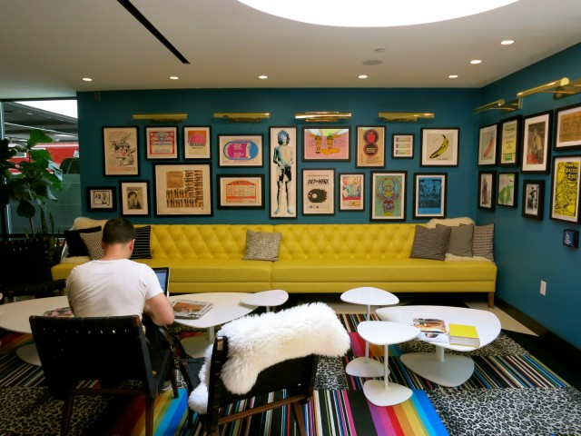 Lobby of Verb Hotel, Boston