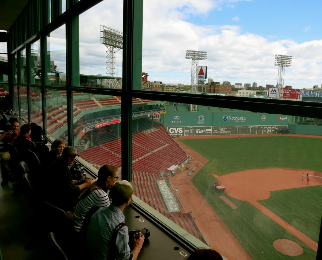 Press Box at Fenway Park