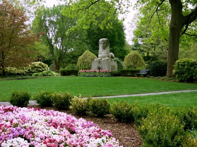 Sphinx at Mount Auburn Cemetery