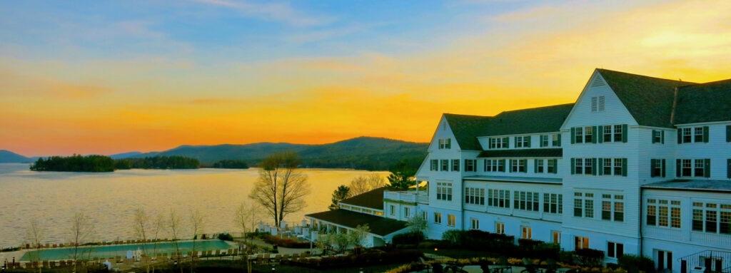 Sunset on Lake George from Sagamore Hotel