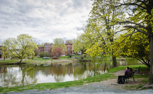 Washington Park was first conceived in 1869 by Frederick Law Olmsted and Calvert Vaux when Albany was at the height of prosperity. #Albany #NY #garden @GetawayMavens