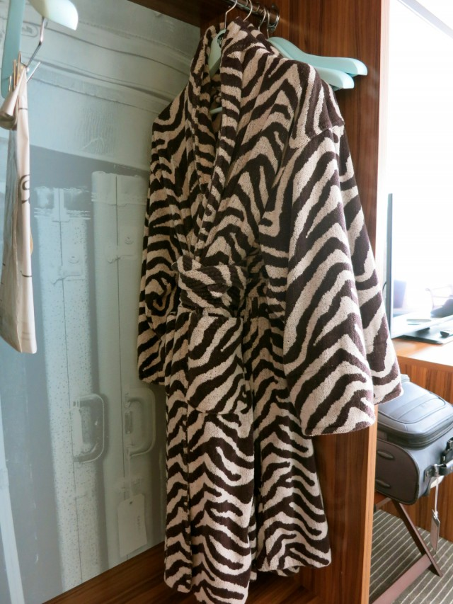 Zebra Striped Robes, Verb Hotel Boston