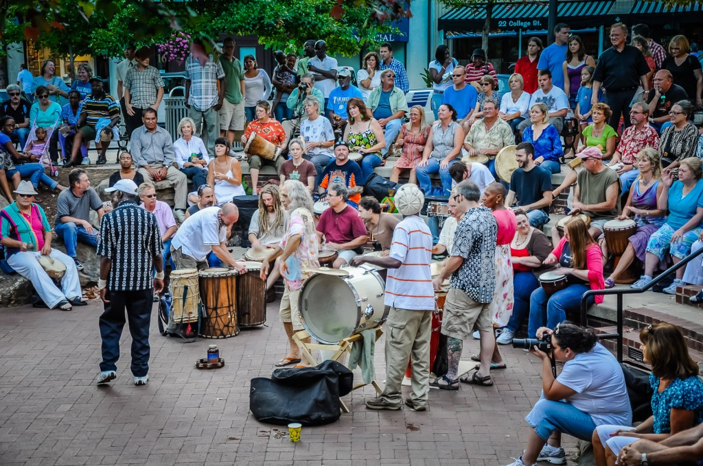 Drum Circle - Pritchard Park - Asheville NC