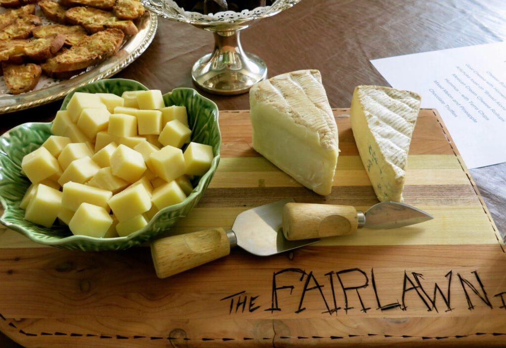 Cheese Plate Fairlawn Inn Hunter NY
