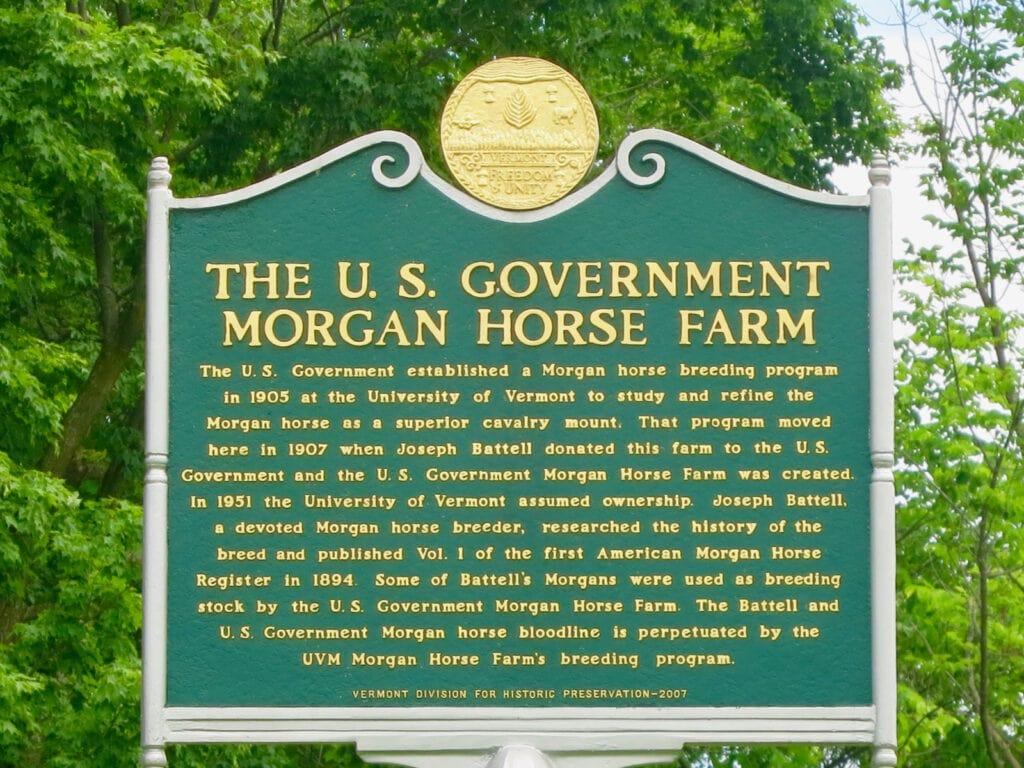 US Gov Morgan Horse Farm Middlebury VT