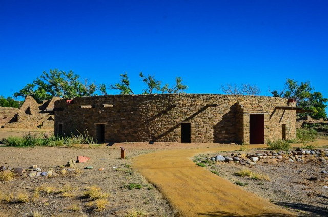 Tour the reconstructed Great Kiva--the third largest ever excavated--and explore 400 masonry rooms of the 900-year-old Pueblo Great House at Aztec Ruins National Monument in Aztec, New Mexico.