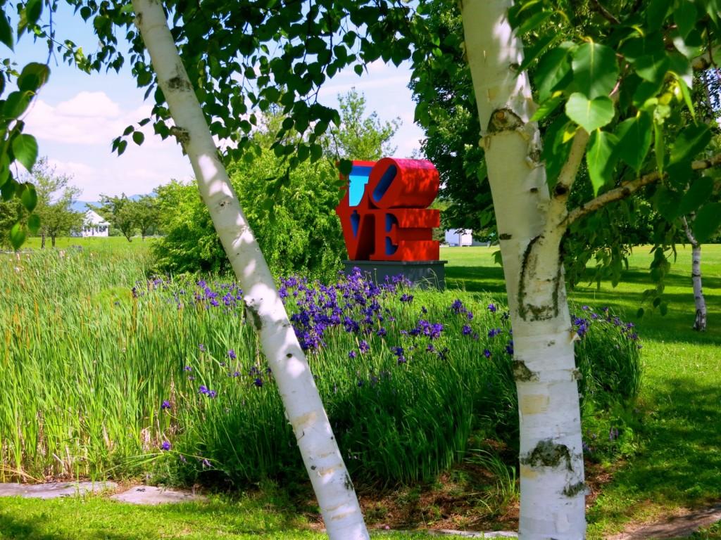 Robert Indiana LOVE sculpture Middlebury College VT