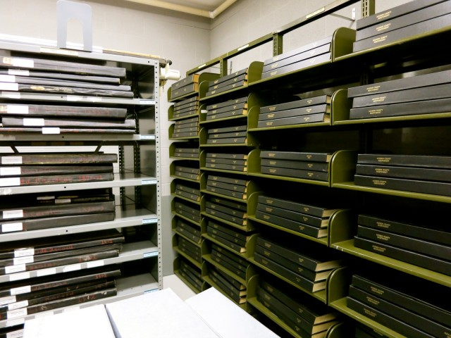 Sheldon Museum Geneology Vault, Middlebury VT