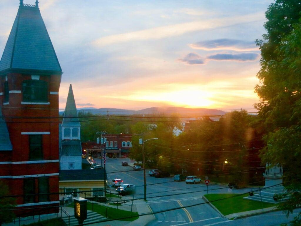 Sunset over Middlebury VT