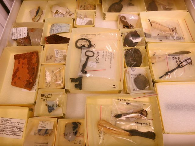 Archeological finds at Jefferson Patterson Park