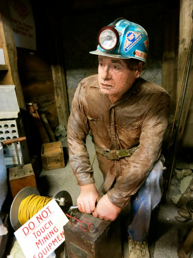 John Pawloski with dynomite, Mining Museum, Kent CT