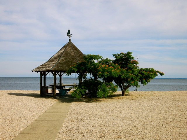 Private beach gazebo, Piney Point MD