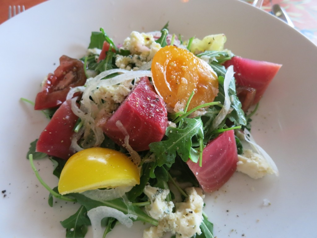 Beet Tomato Salad, My Place by the Sea, Rockport MA
