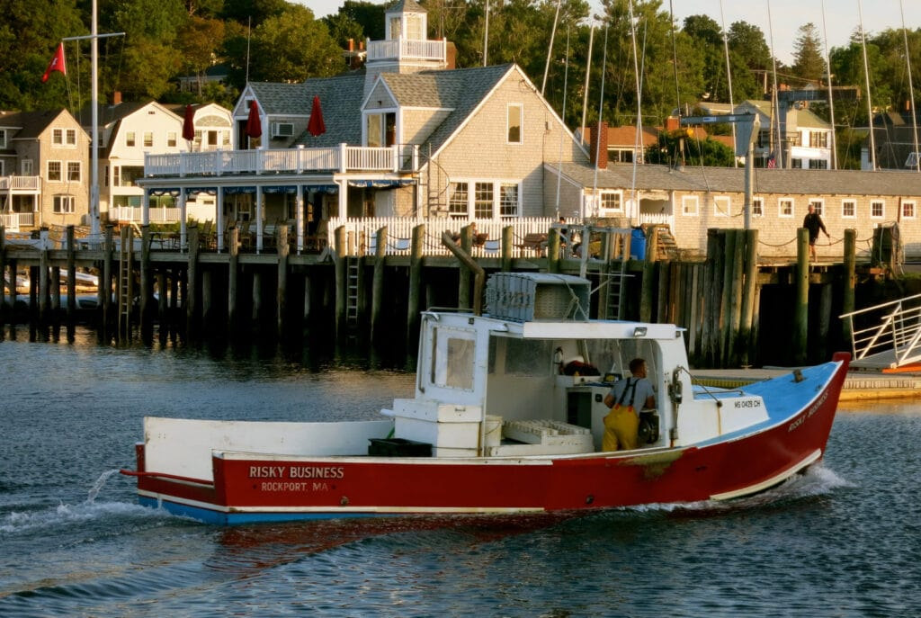 Lobster Boat in Rockland MA Harbor