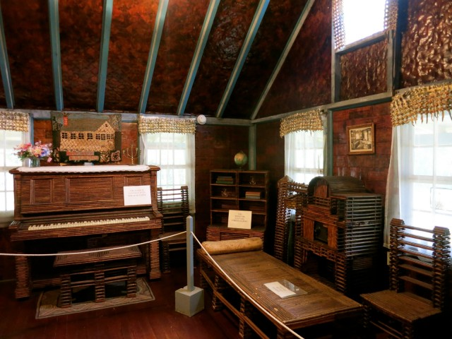 Paper House interior, Rockport MA