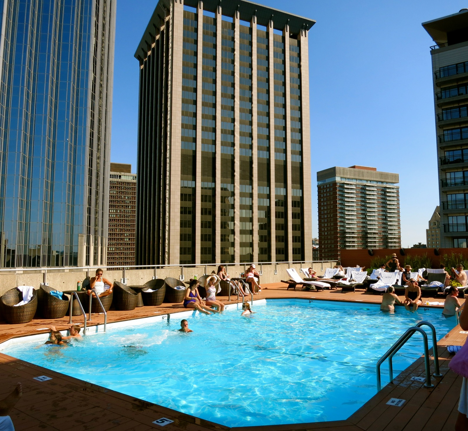The Colonnade Hotel, Boston: Roof Deck Pool Extraordinaire