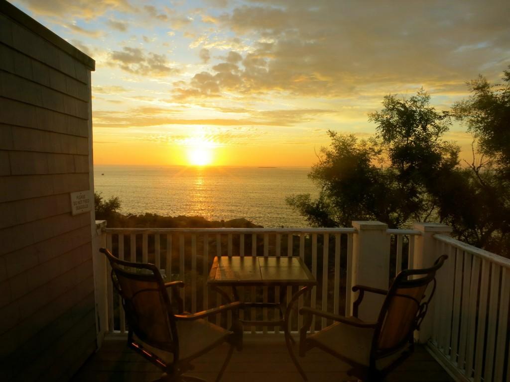 Sunrise from Yankee Clipper Inn, Rockport MA