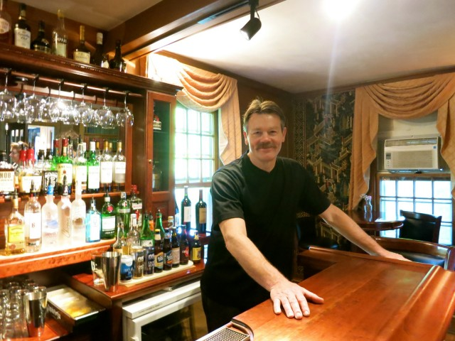 Barry the Bartender at Adair Country Inn, Bethlehem NH