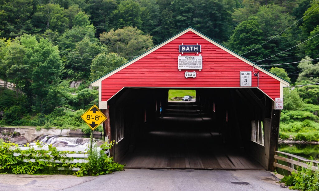 Covered Bridge in Bath NH
