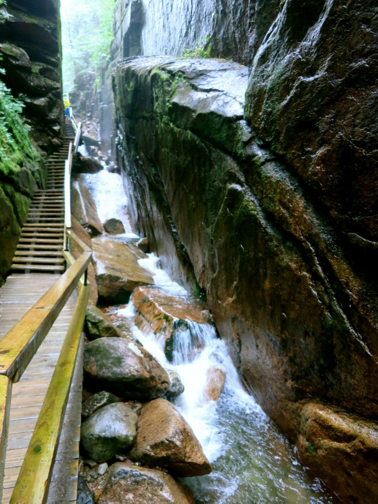Flume Gorge in Franconia Notch State Park - New Hampshire