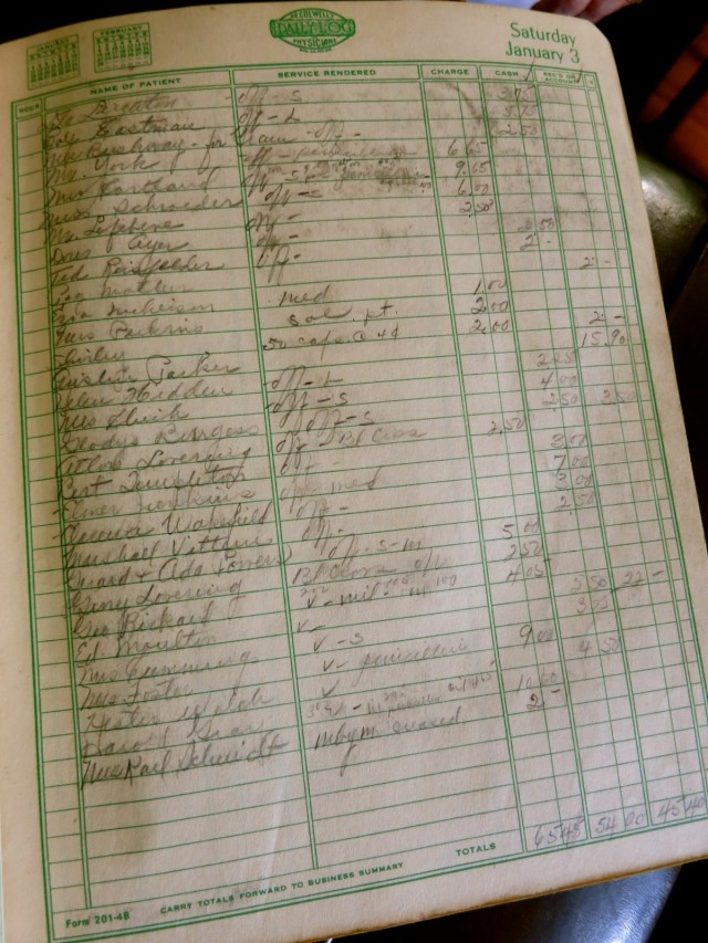 Patient Ledger, Remick County Doctor Museum, Tamworth NH