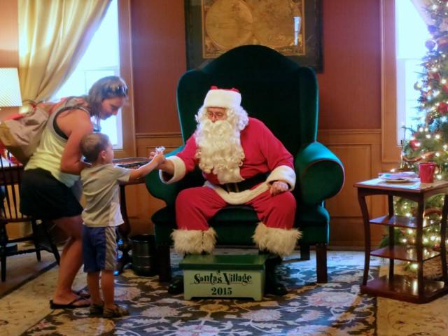 Santa in residence at Santa's Village, NH