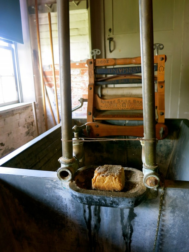 Soap left from 1940's at Canterbury Shaker Village