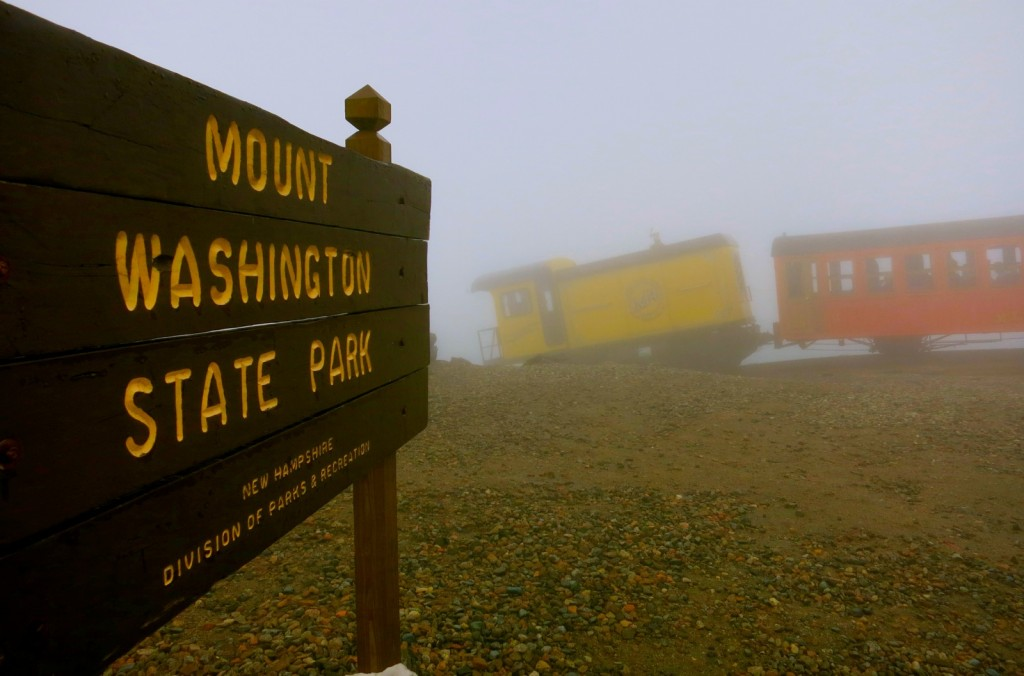 Top of Mt. Washington on Cog Railroad NH