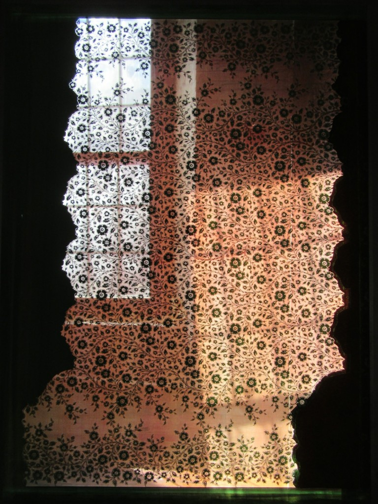 Bates Mfg Bedspread silkscreen, Museum L-A, Lewiston ME