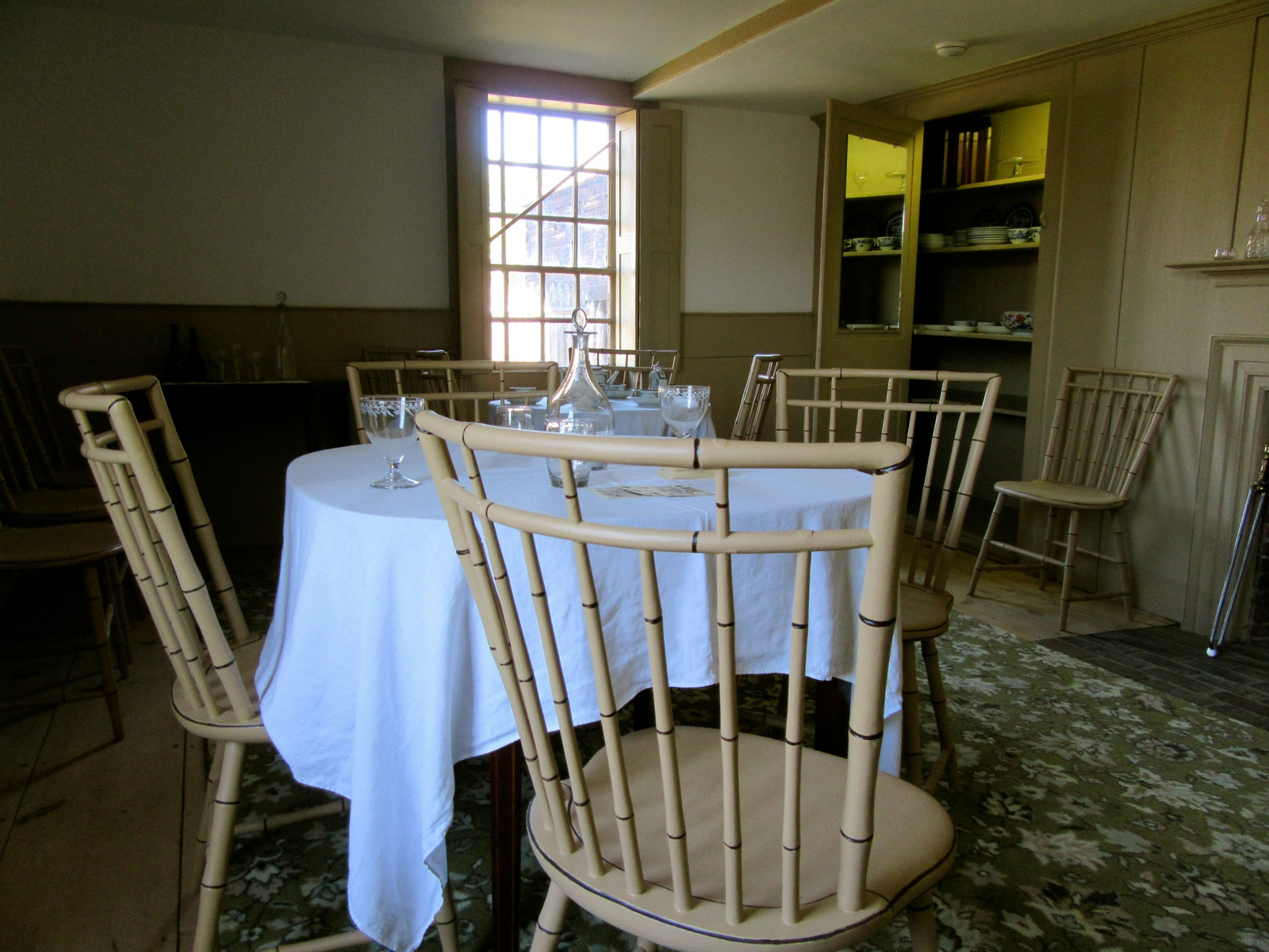 Faux Bamboo Chairs, Old Fort Western, Augusta ME