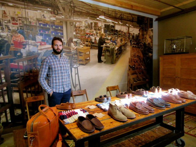Kyle Rancourt, latest generation owner, Rancourt and Co. shoes