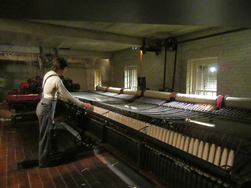 Loom worker, Maine State Museum, Augusta ME