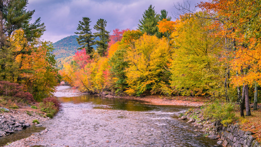 peak fall foliage - Adirondacks