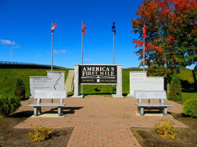 Americas First Mile, US Route 1 Mile 1, Fort Kent ME
