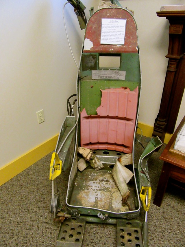 B-52 Crash Ejection Seat, Moosehead Historical Society, Greenville ME