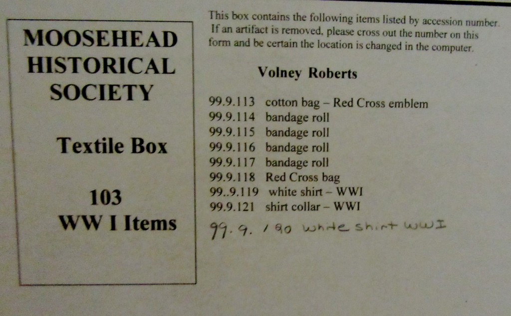 Box of Clothing, Moosehead Historical Society