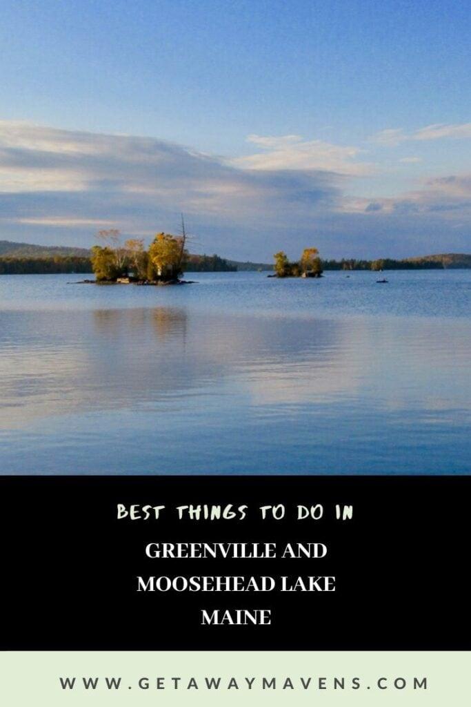 Greenville Moosehead Lake ME Pin