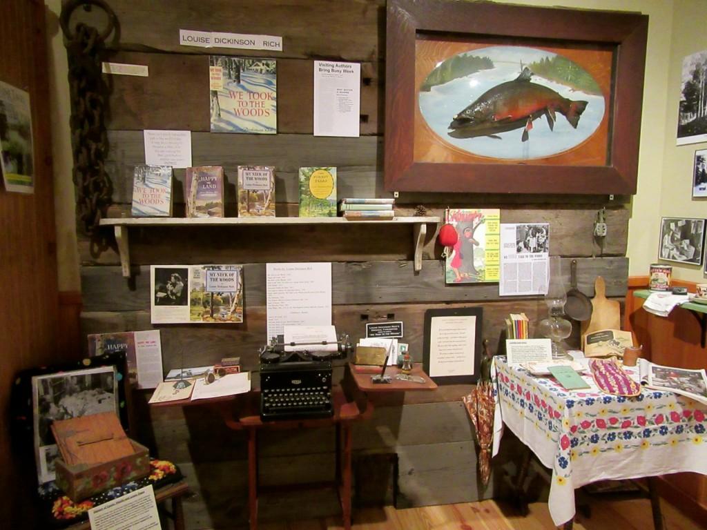 Louise Dickinson Rich Exhibit, Rangeley Outdoor Sporting Heritage Museum, ME