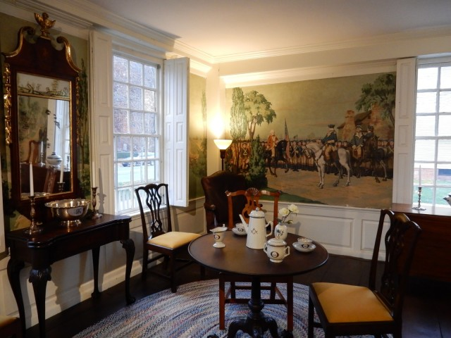 Nutting Colonial Era Mural in Webb House, Wethersfield CT