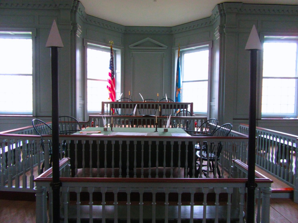 Old State House Witness Stand, Dover Delaware