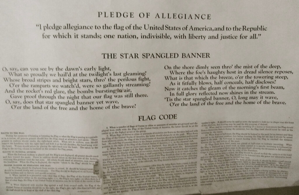 Pledge of Allegiance Before 1954